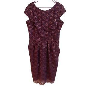Alex evening's sequined  knee length dress…